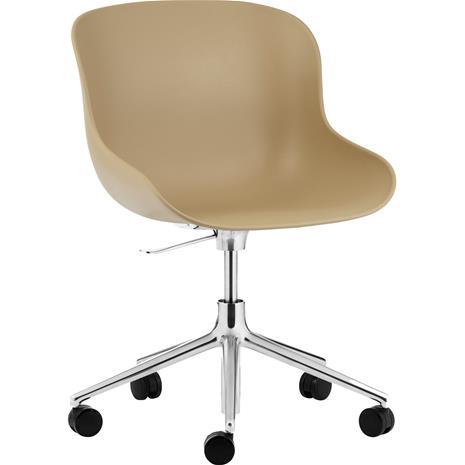 Normann Copenhagen Hyg Swivel Chair 5W, Aluminium/Sand