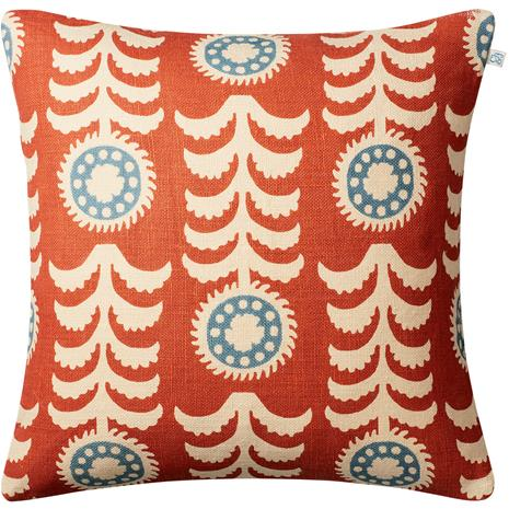 Chhatwal & Jonsson Alok Cushion Cover 50x50 cm, Light Beige / Apricot Orange / Heaven Blue