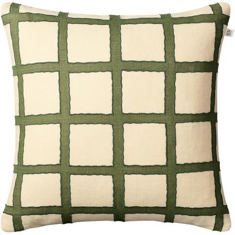 Chhatwal & Jonsson Amar Cushion Cover 50x50 cm, Light Beige / Cactus Green / Green