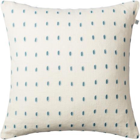 Chhatwal & Jonsson Drop Cushion Cover Off White / Heaven Blue / Aqua, 50x50 cm