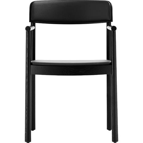 Normann Copenhagen Timb Armchair, Ultra Leather, Black/Black