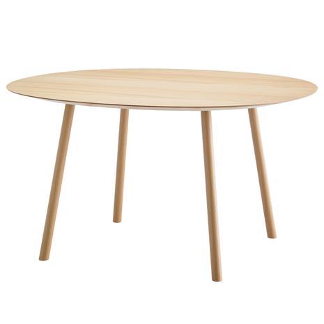 Viccarbe Maarten pöytä, 120 cm, ovaali, matta tammi