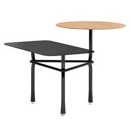 Viccarbe Tiers sivupöytä A, musta - matta tammi