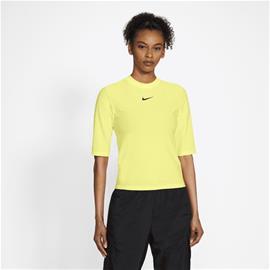 Nike W NSW ICN CLSH TOP SS MESH LT ZITRON
