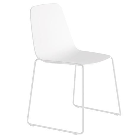 Viccarbe Maarten tuoli, kelkkajalka, valkoinen