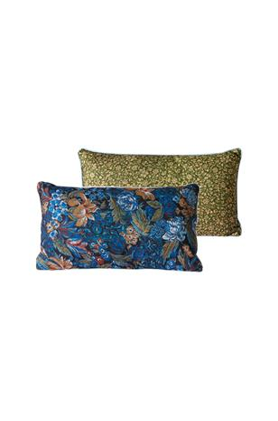 HKliving Tyyny 35x60 cm Blue Floral, DORIS for HKLIVING