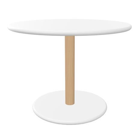 Viccarbe Common sivupöytä, 60 cm, matta pyökki - valkoinen