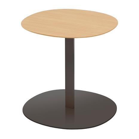 Viccarbe Serra sivupöytä, pyöreä, musta - matta tammi