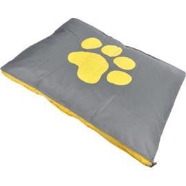Dog Paw suorakaiteen tyyny irrotettavalla peitteellä - polyesteri - 100 x 70 x 8 cm - keltainen