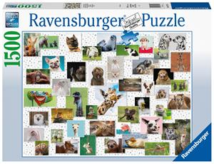 Ravensburger Funny Animals Kollage 1500p palapeli