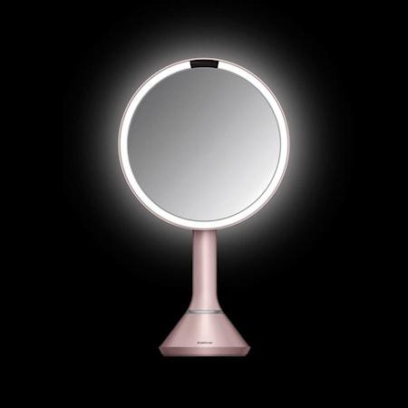 Simplehuman Peili Liiketunnistimella ja Säädettävällä valaistusvoimakkuudella Vaaleanpunainen