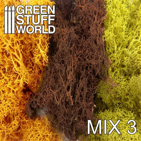 GSW Islandmoss: Yellow and Brown Mix 50g