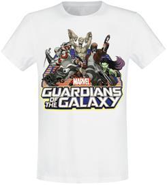 Guardians Of The Galaxy - Comic Group - T-paita - Miehet - Valkoinen, Miesten paidat, puserot ja neuleet