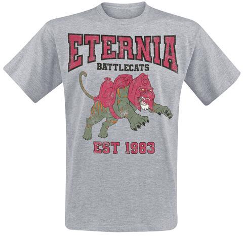 Masters Of The Universe - Eternia- Battlecats - T-paita - Miehet - Sävytetty harmaa, Miesten paidat, puserot ja neuleet