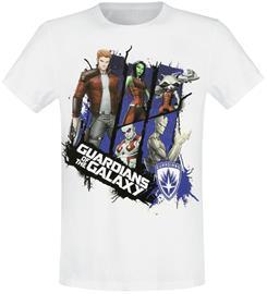Guardians Of The Galaxy - Cartoon Group - T-paita - Miehet - Valkoinen