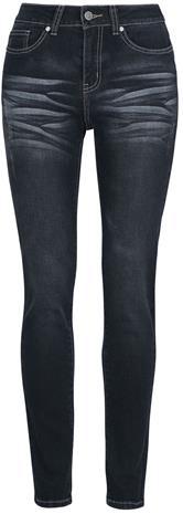 RED by EMP - Skarlett - Dunkelblaue Jeans mit Waschung - Farkut - Naiset - Tummansininen, Naisten housut ja shortsit