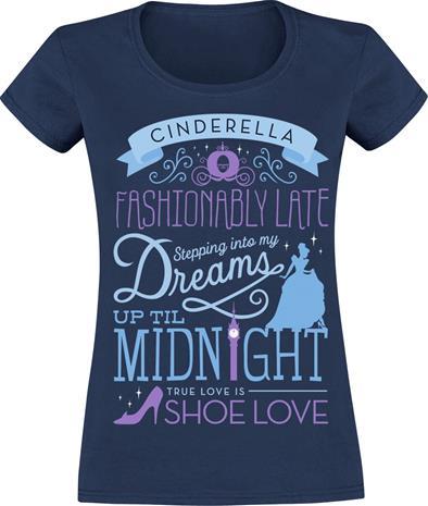 Tuhkimo - Up Til Midnight - T-paita - Naiset - Tummansininen
