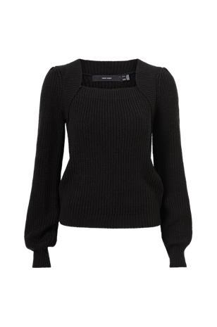 Vero Moda Neulepusero vmGlendora LS Square Neck Blouse, Naisten paidat, puserot, topit, neuleet ja jakut