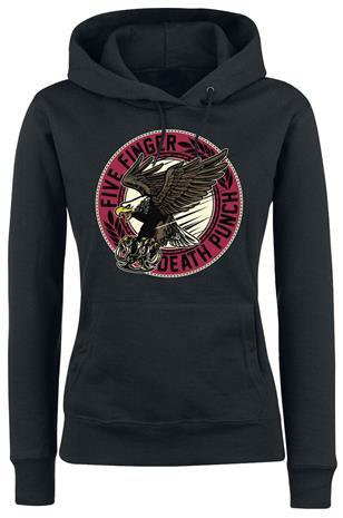 Five Finger Death Punch - Knuck Eagle - Huppari - Naiset - Musta, Naisten paidat, puserot, topit, neuleet ja jakut