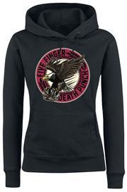 Five Finger Death Punch - Knuck Eagle - Huppari - Naiset - Musta