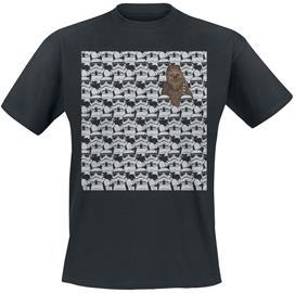 Star Wars - Find Chewie! - T-paita - Miehet - Musta, Miesten paidat, puserot ja neuleet