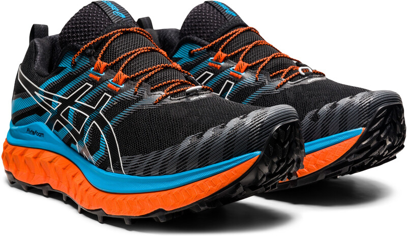 asics Trabuco Max Shoes Men, black/digital aqua