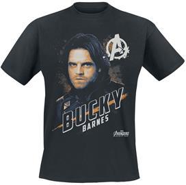 Avengers - Bucky Barnes - T-paita - Miehet - Musta, Miesten paidat, puserot ja neuleet
