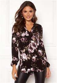 Happy Holly naisten tunika MILLY, musta-kirjava 52/54, Naisten paidat, puserot, topit, neuleet ja jakut
