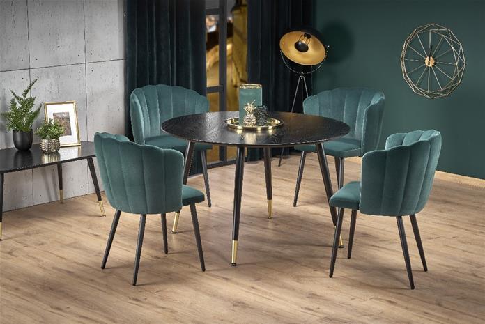 Ruokapöytä Embos 120x75 cm, musta