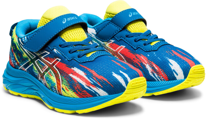 asics Pre Noosa Tri 13 PS Shoes Kids, reborn blue/sour yuzu