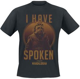 Star Wars - The Mandalorian - I Have Spoken - T-paita - Miehet - Musta, Miesten paidat, puserot ja neuleet