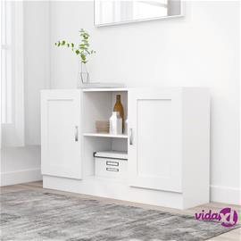 vidaXL Senkki valkoinen 120x30,5x70 cm lastulevy