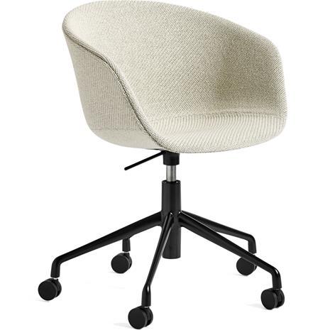 Hay Hay-AAC53 chair, Black 5 star swivel, Coda White