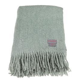 Stackelbergs Stackelbergs-Mohair Blanket 130x170 cm, Sea Foam/Green Bay Melange