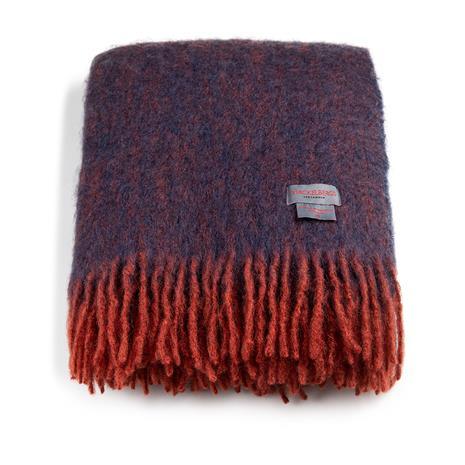 Stackelbergs Stackelbergs-Mohair Blanket 130x170 cm, Brick/Marin Melange