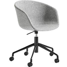 Hay Hay-AAC53 chair, Black 5 star swivel, Hallingdal Gray