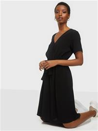 Vila Viprimera Wrap S/S Dress-Fav Black