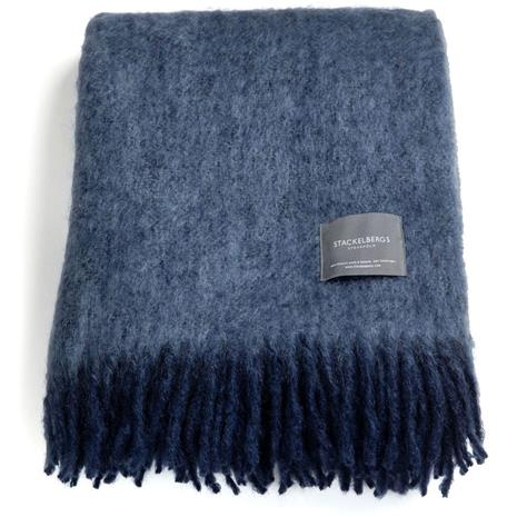 Stackelbergs Stackelbergs-Mohair Blanket 130x170 cm, Marin/Cashmere Blue Melange