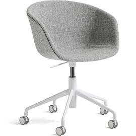 Hay Hay-AAC53 Chair 5 star swivel, White / Hallingdal Grey
