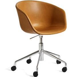 Hay Hay-AAC53 chair, Alu 5 star swivel, Silk Cognac