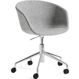 Hay Hay-AAC53 chair, Alu 5 star swivel, Hallingdal Gray