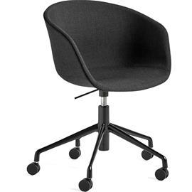 Hay Hay-AAC53 chair, Black 5 star swivel, Remix Black