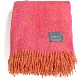 Stackelbergs Stackelbergs-Mohair Blanket 130x170 cm, Orange/Pion Melange