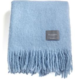 Stackelbergs Stackelbergs-Mohair Blanket 130x170 cm, Cashmere Blue