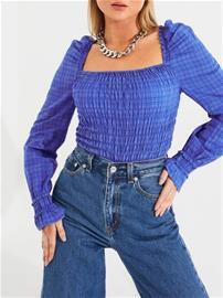 Vero Moda Vmdoro Ls Top Wvn Dazzling Blue