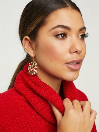 NLY Accessories Melted Plate Earrings