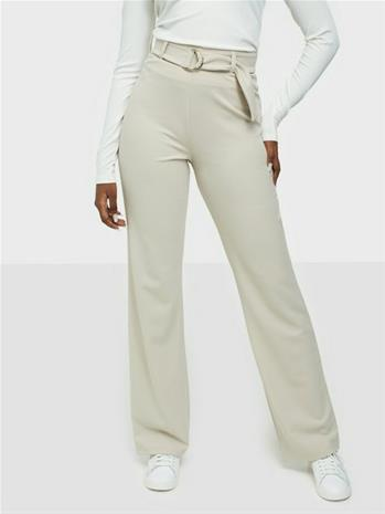 NLY Trend Ring Belt Pants Beige