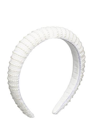 By Malina Florence Pearl Headband Accessories Headwear Headbands Valkoinen By Malina IVORY