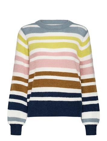 Nä¼mph Nubexley Stripe Pullover Neulepaita Monivärinen/Kuvioitu Nä¼mph MOONLIT