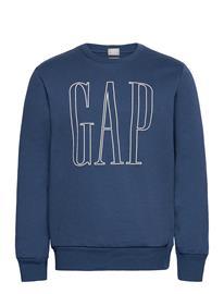 GAP Gap Logo Crewneck Sweatshirt Svetari Collegepaita Sininen GAP NIGHT